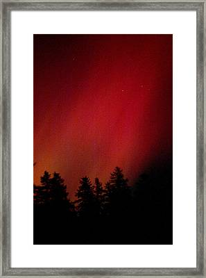 Framed Print featuring the photograph Aurora 01 by Brent L Ander