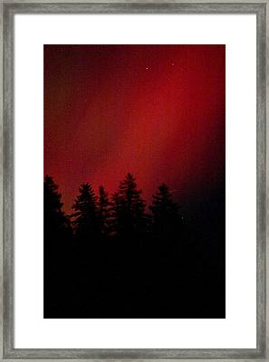 Framed Print featuring the photograph Aurora 02 by Brent L Ander
