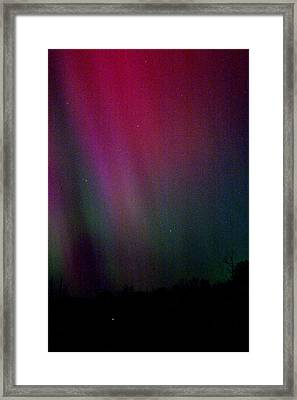 Framed Print featuring the photograph Aurora 03 by Brent L Ander