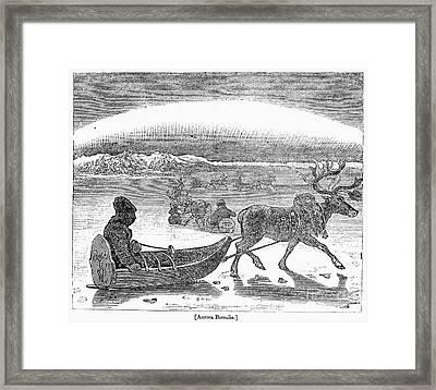 Aurora Borealis, 1833 Framed Print