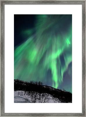 Aurora Borealis Corona Framed Print by John Hemmingsen