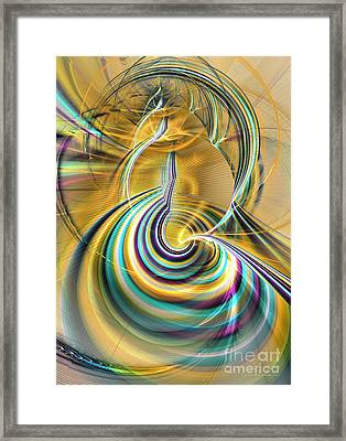 Aurora Of Yellowness Framed Print by Sipo Liimatainen