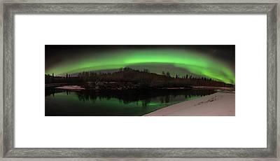 Aurora Over Chena Framed Print