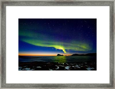 Aurora Over Haja Island Framed Print