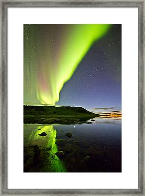Aurora Raising Framed Print