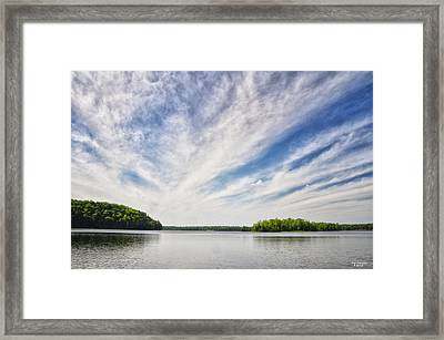 Ausable River On A Summers Day Framed Print
