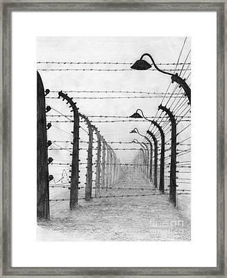 Auschwitz  Framed Print by Annemeet Hasidi- van der Leij