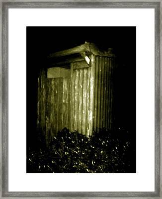 Aussie Backyard Dunny Framed Print by Julie Butterworth