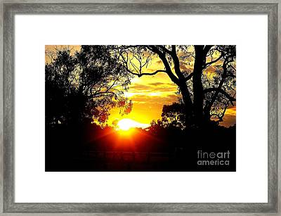 Framed Print featuring the photograph Aussie Sunset by Blair Stuart