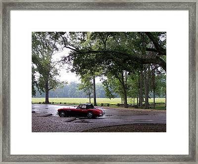 Framed Print featuring the photograph Austin Healey 100-6 by Richard Willows