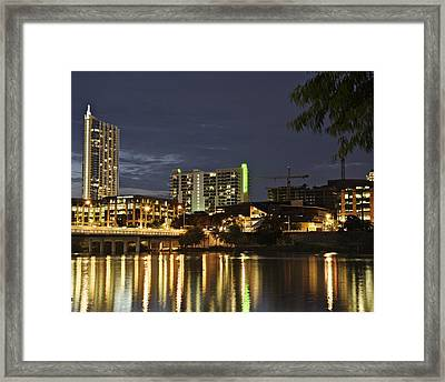 Austin Night Skyline Framed Print by Alan Tonnesen