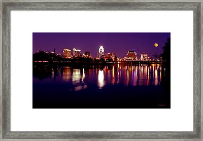 Austin Sky Line In December 2004 Framed Print by Lisa  Spencer