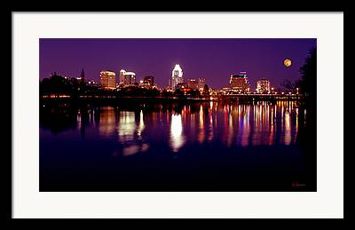 Reflection Of Buildings In Water Framed Prints