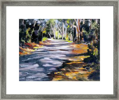 Framed Print featuring the painting Australia Revisited 3 by Rae Andrews