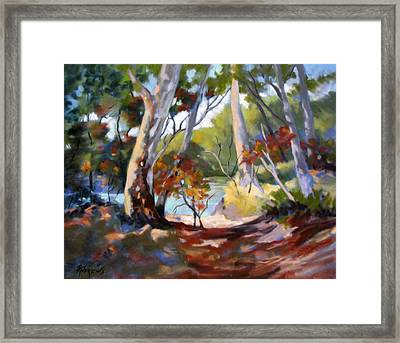 Framed Print featuring the painting Australia Revisited by Rae Andrews