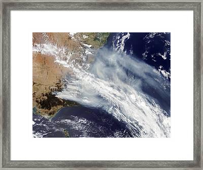 Australian Bush Fire Smoke Framed Print by Nasa