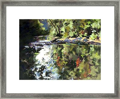 Framed Print featuring the painting Australian Escape by Rae Andrews