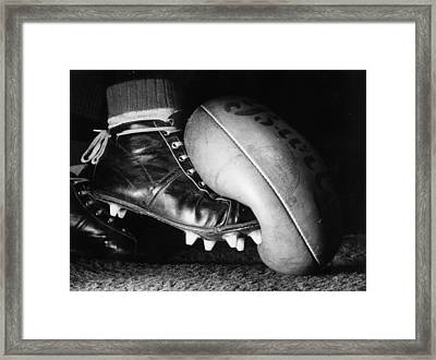 Australian Rules Framed Print by Central Press