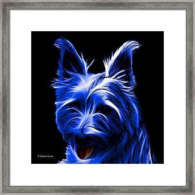Australian Terrier Pop Art - Blue Framed Print