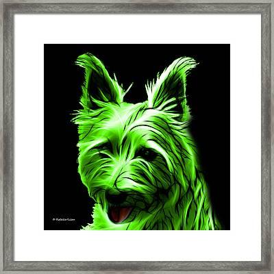 Australian Terrier Pop Art - Green Framed Print by James Ahn
