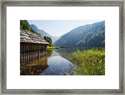 Austria, Styria, View Of Lake Toplitzsee Framed Print