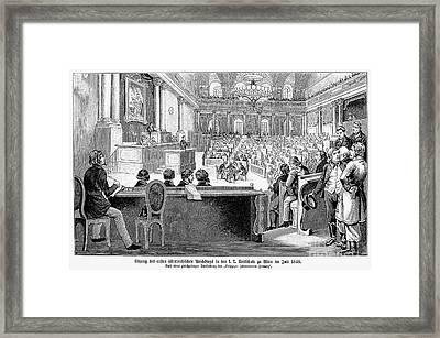 Austrian Assembly, 1848 Framed Print by Granger
