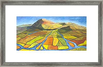 Framed Print featuring the painting Austrian Landscape by AnneKarin Glass