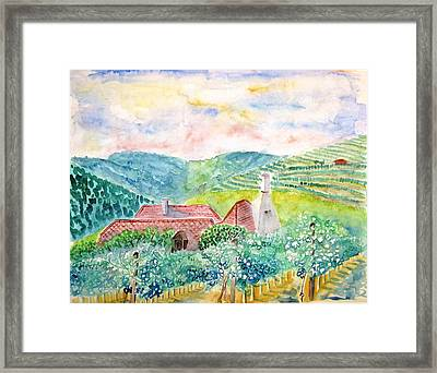 Austrian Vineyards Framed Print