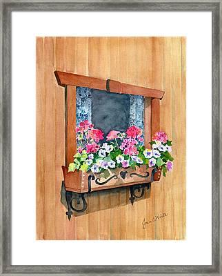 Austrian Window Framed Print by Jean White