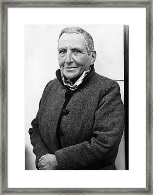 Author Gertrude Stein, 1934 Framed Print