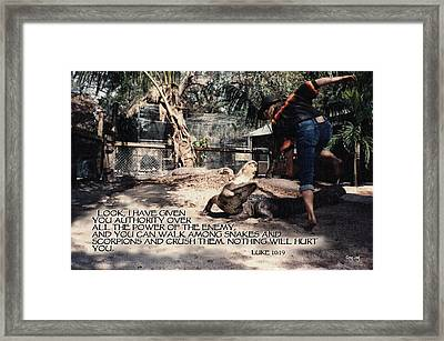 Authority Framed Print by Greg Long