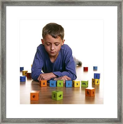 Autistic Boy Framed Print by Kevin Curtis
