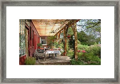 Framed Print featuring the digital art Autmn Garden by John Selmer Sr