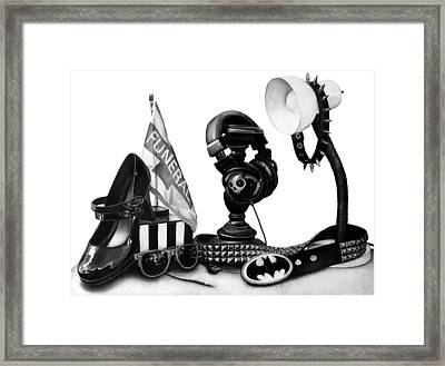Autobiographical Still Life Framed Print by Kalie Hoodhood