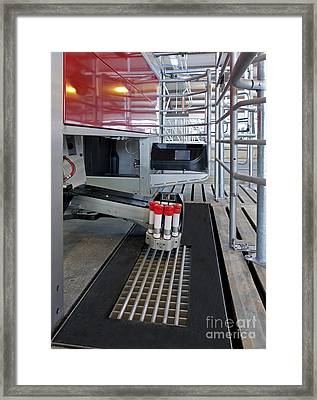 Automatic Milking Machine Framed Print