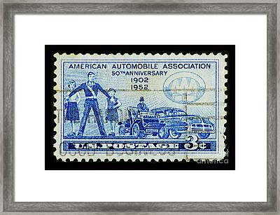 Framed Print featuring the photograph Automobile Association Of America by Andy Prendy