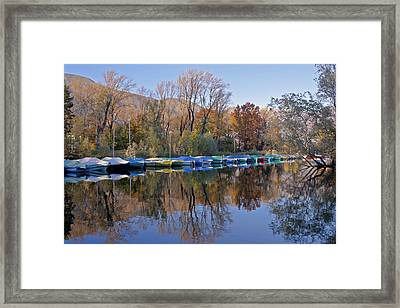 autum at the Lake Maggiore Framed Print