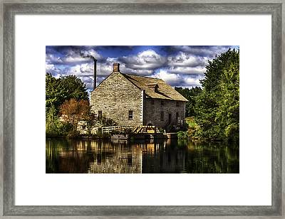 Autum At The Mill Framed Print