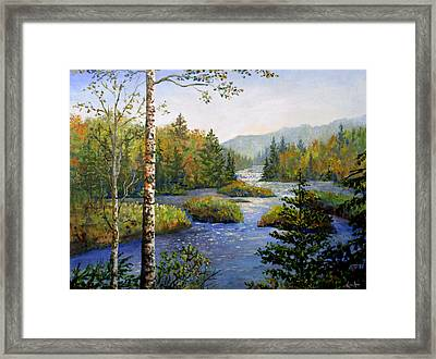 Framed Print featuring the painting Autum In Michigan by Lou Ann Bagnall