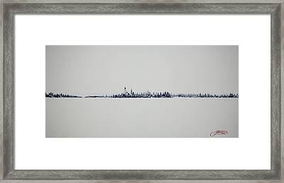 Autum Skyline Framed Print