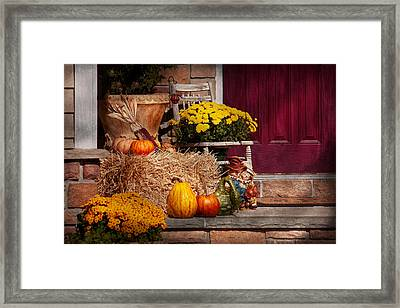 Autumn - Gourd - Autumn Preparations Framed Print by Mike Savad