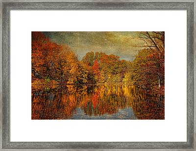 Autumn - Landscape - Tamaques Park - Autumn In Westfield Nj  Framed Print by Mike Savad
