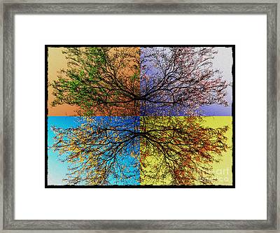 Autumn Abstract Framed Print by Jeff Breiman