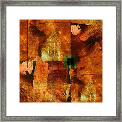 Autumn Abstracton Framed Print