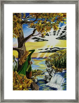 Autumn Archer Framed Print by Robert Thornton