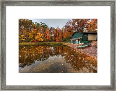 Autumn At Big Boulder Lake Framed Print