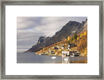Autumn At  Ersfjordboton, Tromso, Norway Framed Print