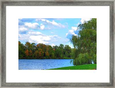 Framed Print featuring the photograph Autumn At Hoyt Lake by Michael Frank Jr