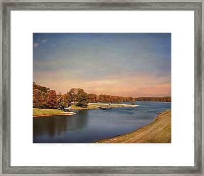 Autumn At Lake Graham 2 Framed Print by Jai Johnson