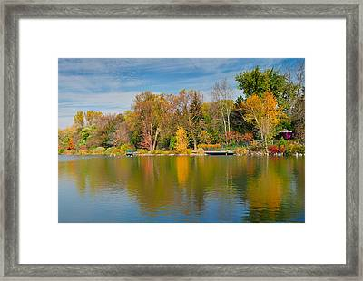 Autumn At Mill Pond Park Framed Print by Luba Citrin